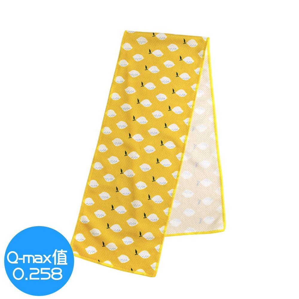 日本 DAIKAI - 抗UV接觸冷感 水涼感巾-清新檸檬-黃 (M(80x15cm))