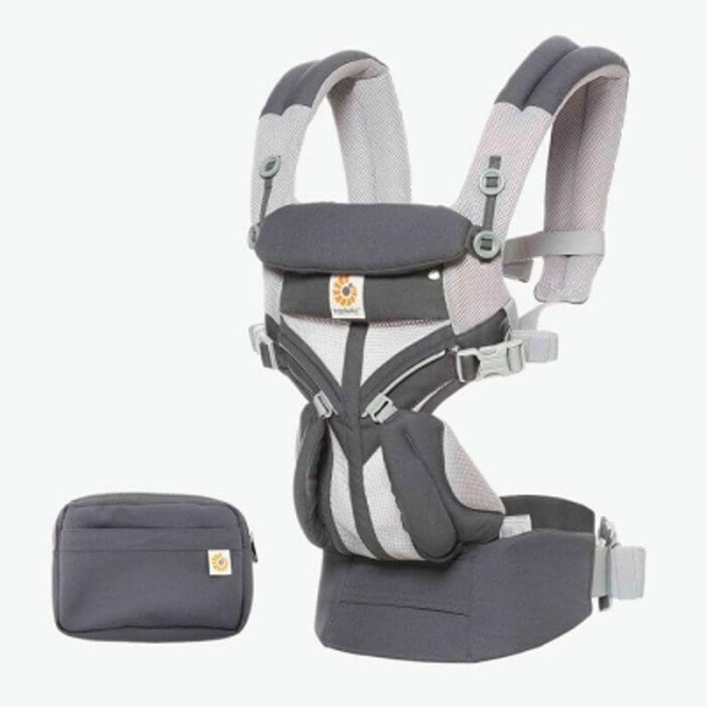 美國ERGObaby - Omni全階段型四式360嬰兒揹巾/揹帶-透氣款-碳灰
