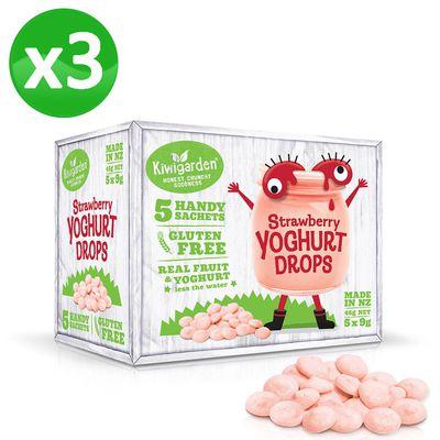 益菌優格豆 新鮮草莓3盒組-新鮮草莓/9g/5包/盒x3