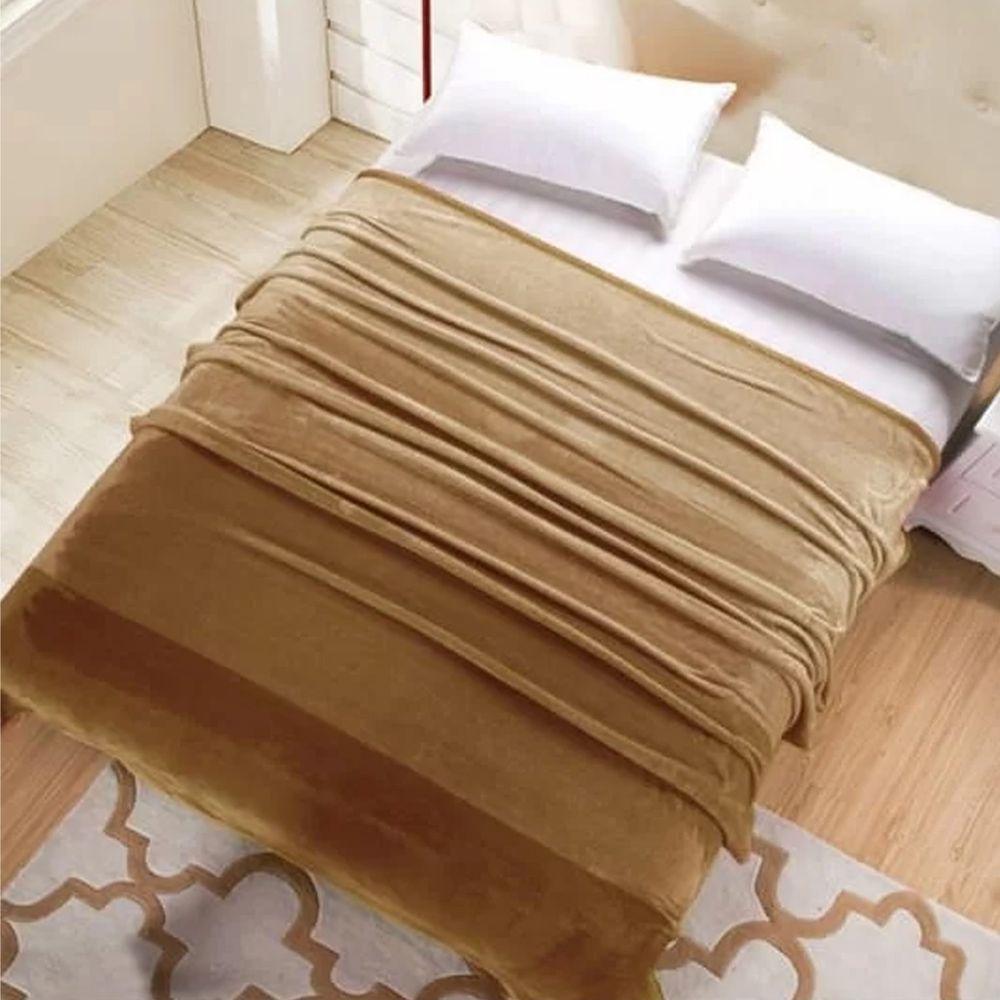 株式會社 - 韓國超細纖維居家毯-褐 (200*230公分)