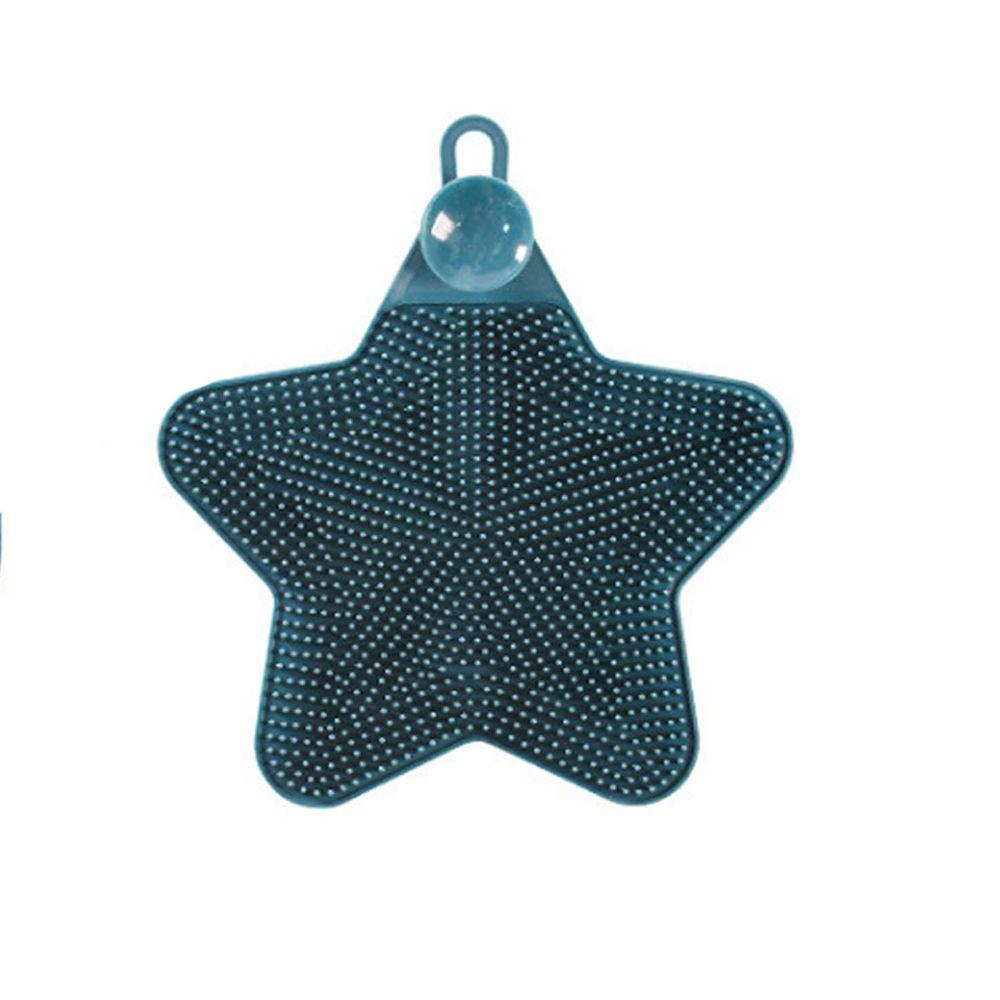 溫柔去污矽膠清潔刷-星星-藍色