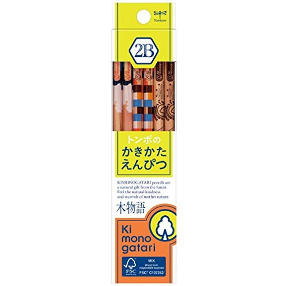 日本文具代購 - Tombow FSC森林認證木材製六角鉛筆12支-2B-木物語黃綠