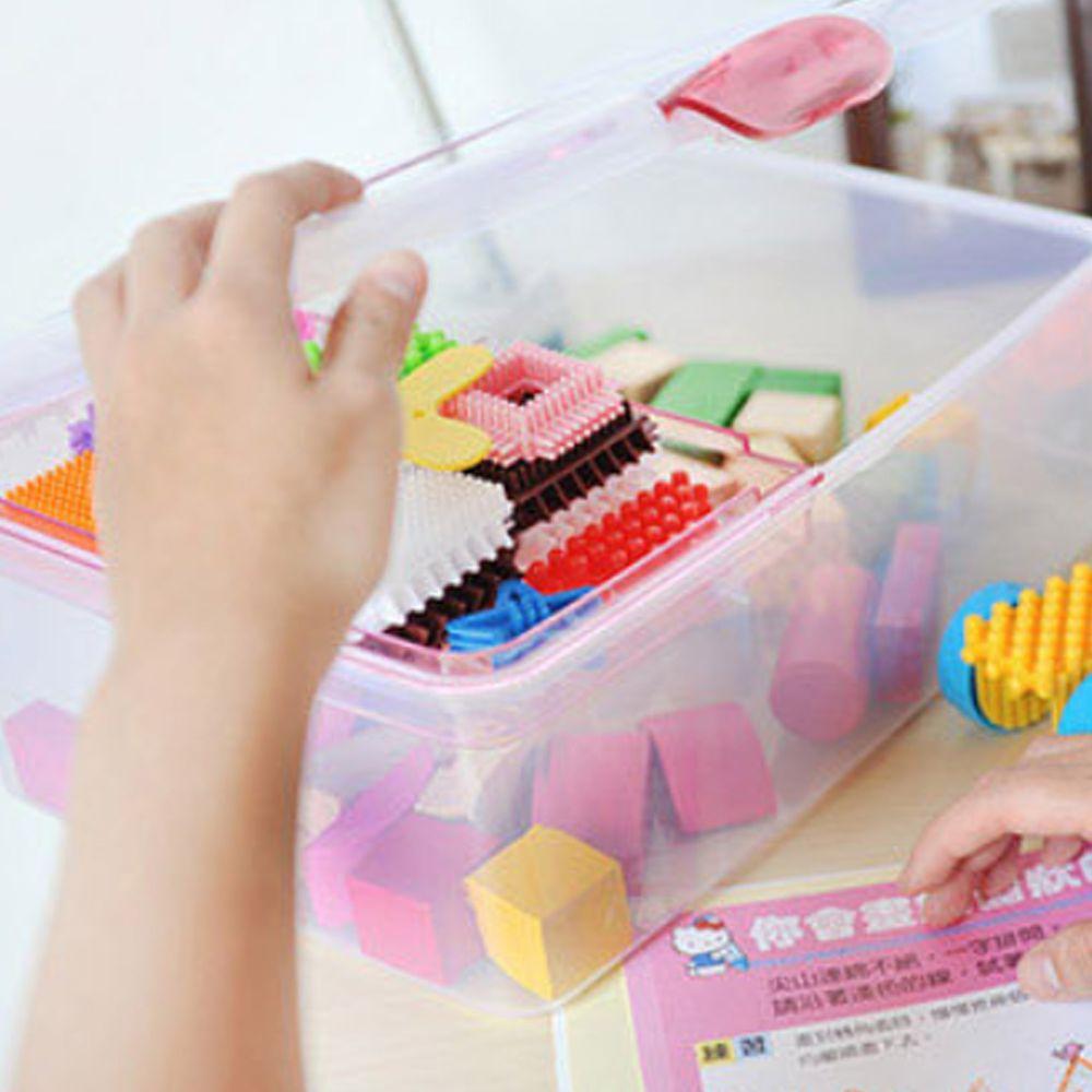 NiceGoods - 超級吐司收納手提箱-粉紅