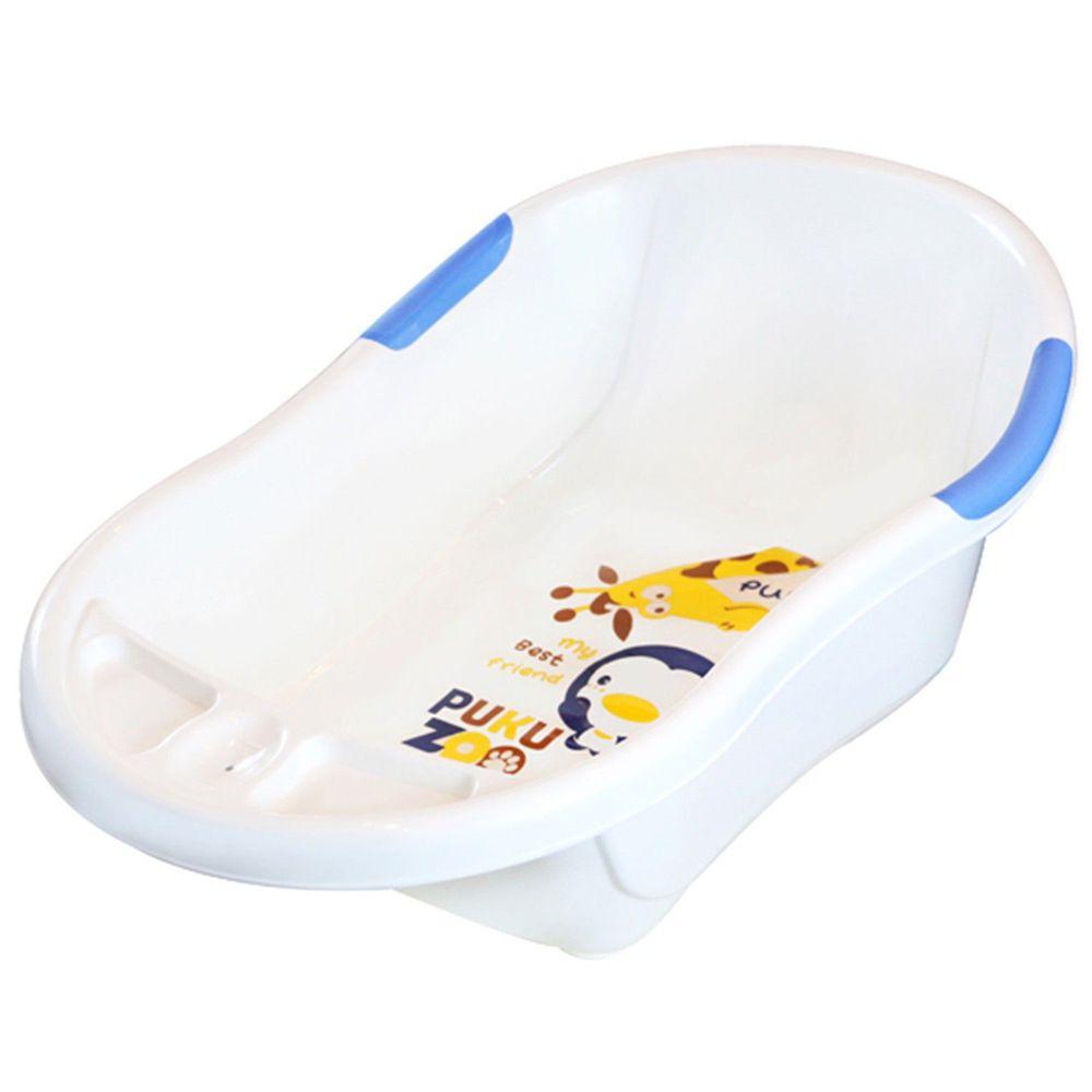 PUKU 藍色企鵝 - 制菌雙色浴盆L-水
