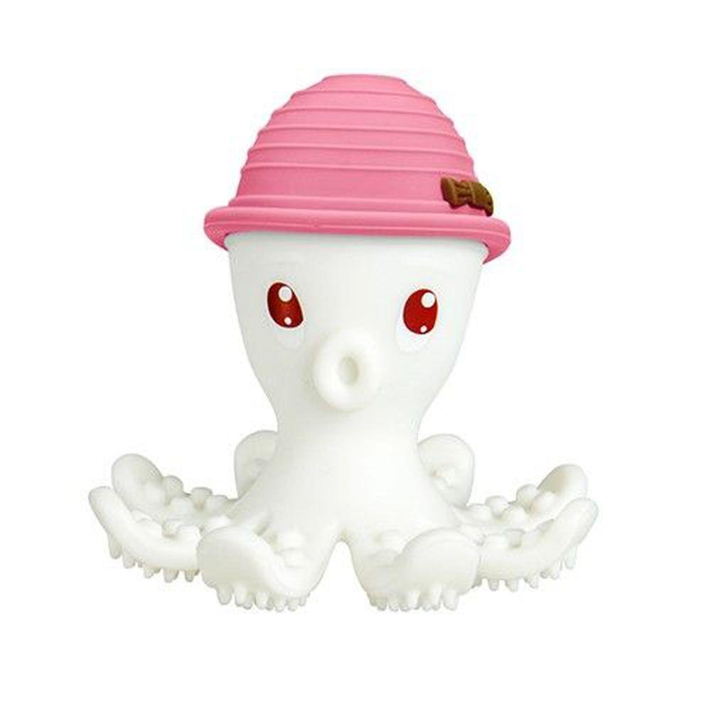 英國 mombella - 樂咬咬章魚固齒器-粉紅色