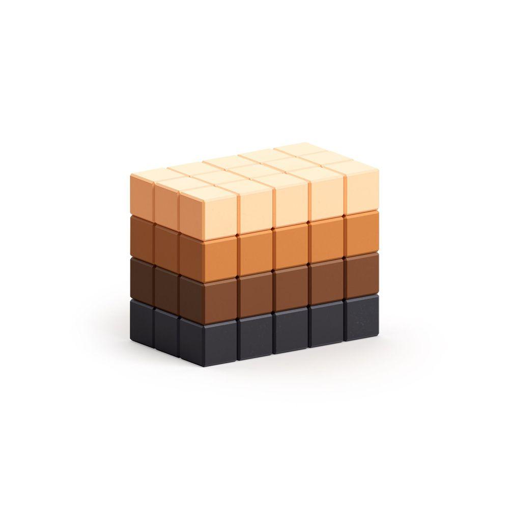 美國 Pixio - 磁力像素小魔方-抽象系列-摩卡可可60