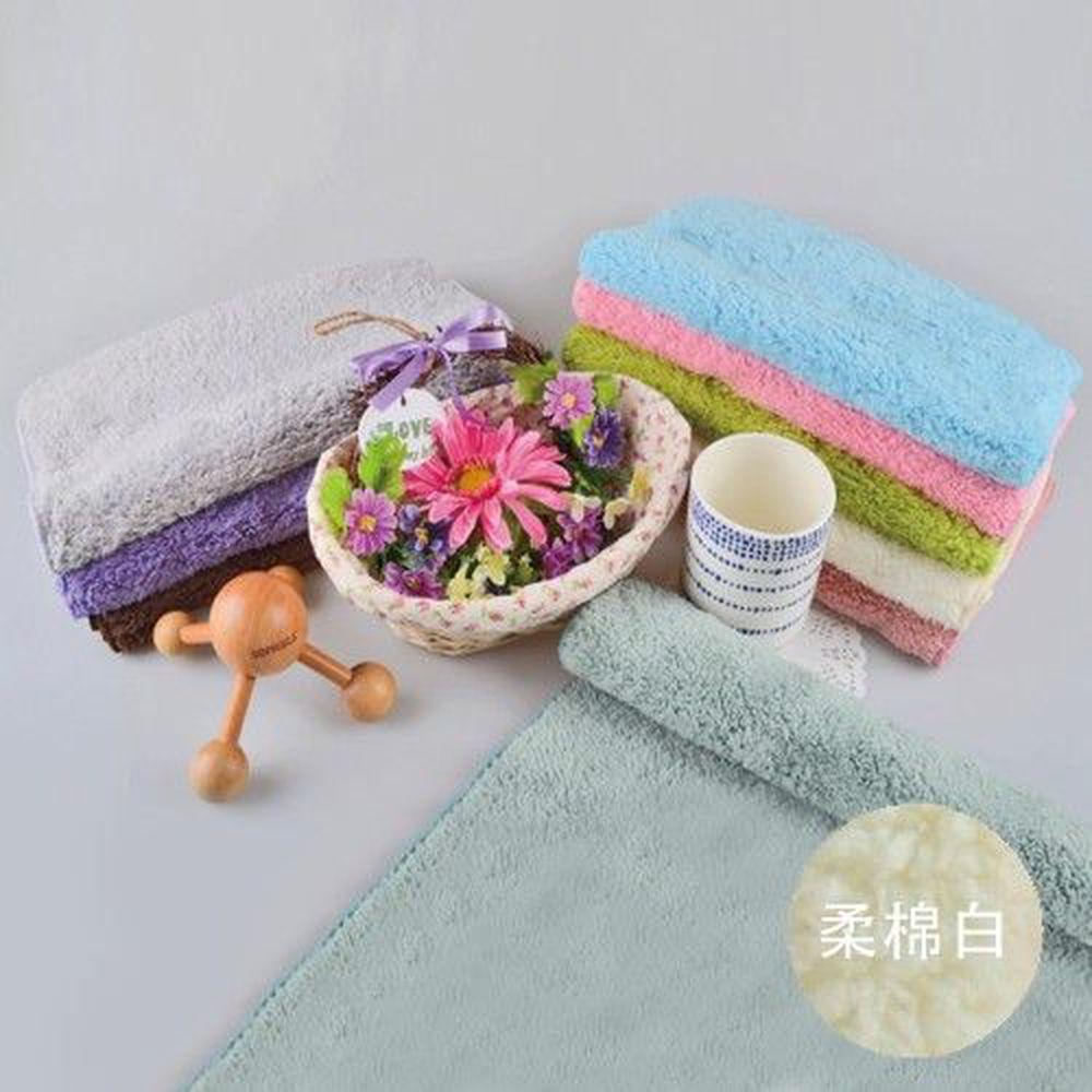 貝柔 Peilou - 超強十倍吸水超細纖維抗菌潔膚巾3入組合-柔棉白 (30x75cm)
