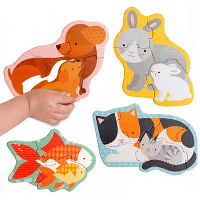 初階拼圖-可愛寵物-3、4、5及6片