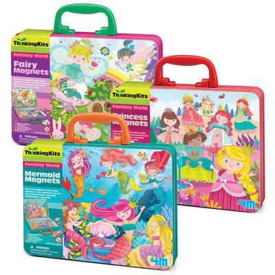 【童話世界磁貼三入組】-仙子樂園+童話公主+小美人魚