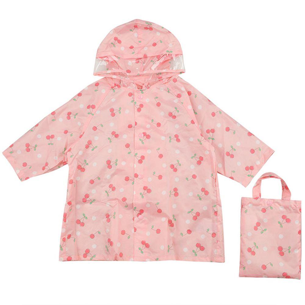 akachan honpo - 雨衣-櫻桃-粉紅色