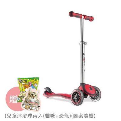Globber哥輪步 兒童2合1三輪滑板車-紅色-【媽咪愛獨家送】兒童彩色車鈴(款式隨機送完為止)