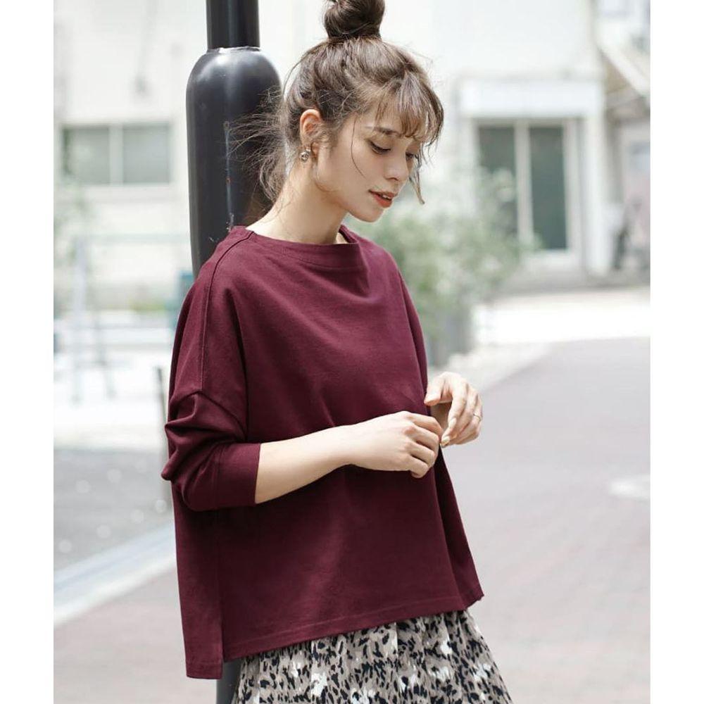 日本 zootie - [撥水/撥油加工] 抗油污耐洗純棉長袖上衣-紫