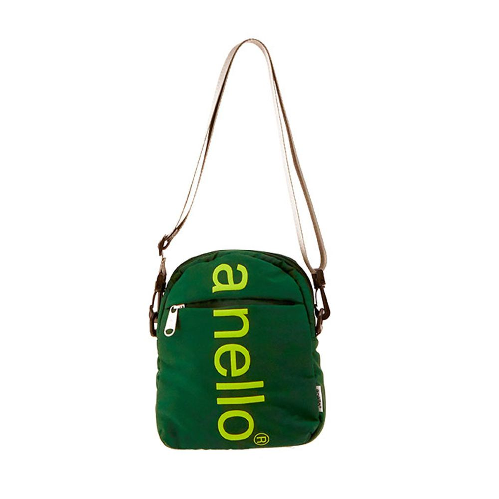 日本 Anello - 大LOGO迷你肩背包-mini小尺寸-GN綠色