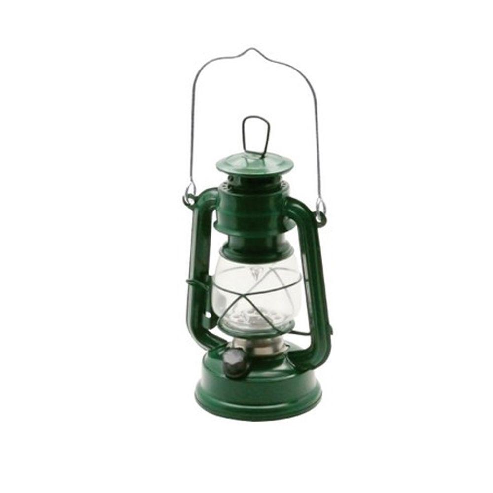 日本丸和 - 復古煤油燈造型LED露營燈-沈穩綠 (12x9.5x21cm(含提把27cm))