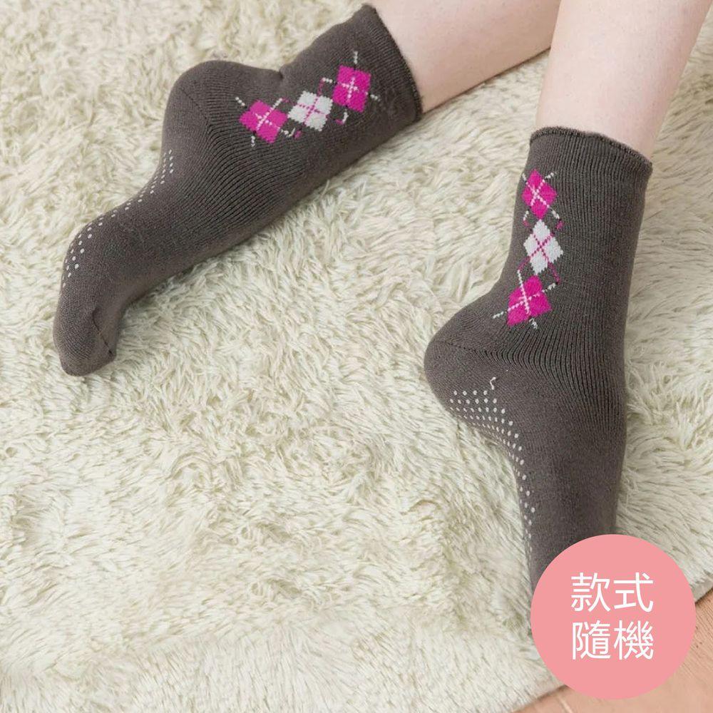 貝柔 Peilou - 裹起毛爆暖止滑毛襪-直菱格(3雙組)-直菱格-隨機色3雙 (22-26cm)
