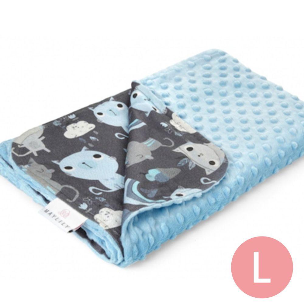 maylily - 竹纖維魔術顆粒輕柔毯(薄,無內胎)-印地安藍貓 (L)-100x70cm