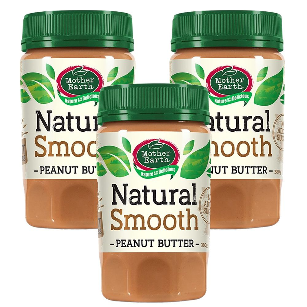 壽滿趣 - 紐西蘭Mother Earth超級花生醬3瓶組-絲滑 (380gx3)