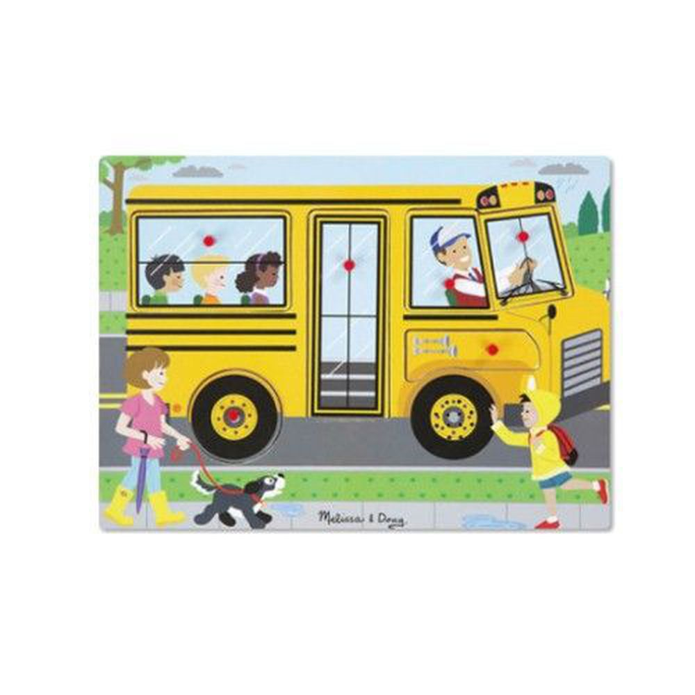 美國瑪莉莎 Melissa & Doug - MD 聲音拼圖-英文童謠-公車輪子轉呀轉