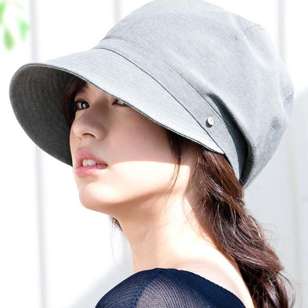 日本服飾代購 - 【irodori】抗UV小顏效果遮陽帽-仿舊灰 (L(61cm))