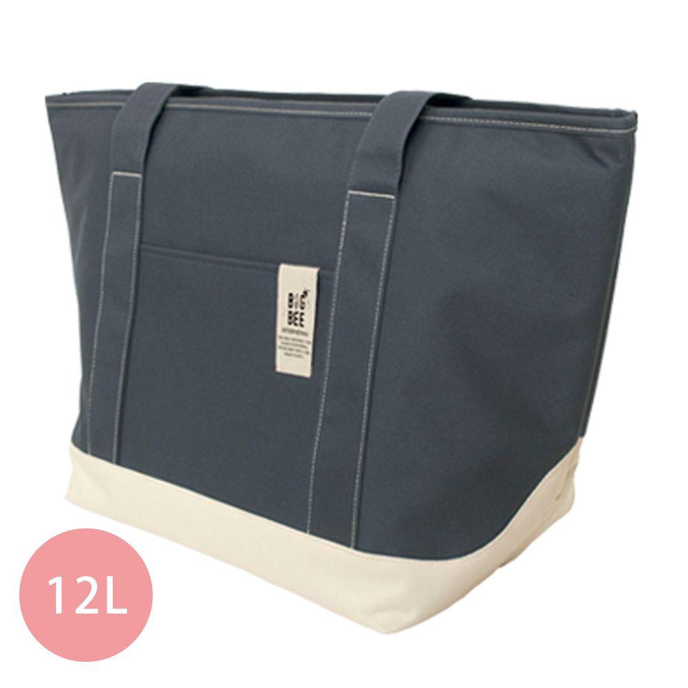 日本 Big Bee - 保冷機能肩背包/購物袋-深藍 (M(50x52cm))-12L