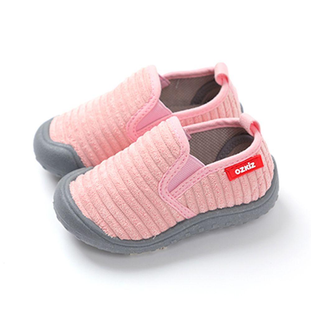 韓國 OZKIZ - (剩14,17cm)絨布超防滑兒童休閒鞋/室內鞋-粉紅