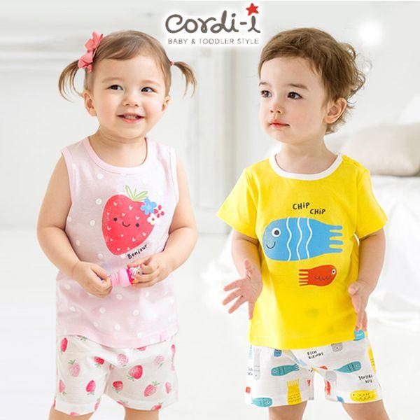 現貨出清 ❤ 韓國 Cordi-i 童趣輕便套裝 ❤ 短袖 / 無袖 / 防踢被