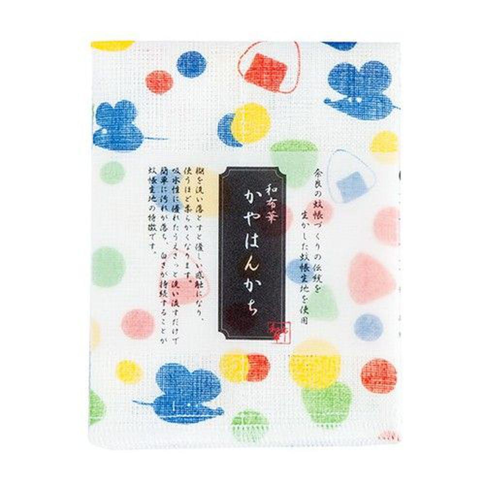 日本代購 - 【和布華】日本製奈良五重紗手帕-老鼠與飯糰 (30x26cm)
