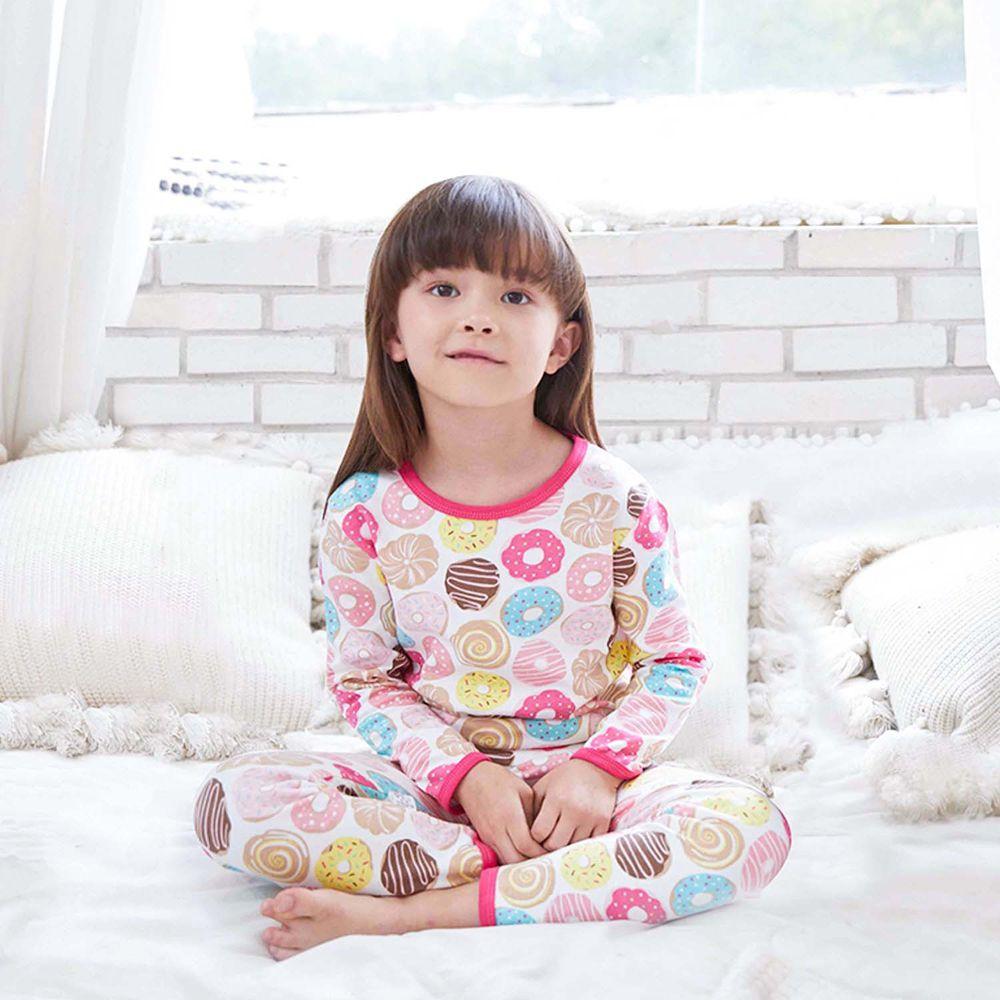 ZIHOU - 兒童秋季純棉居家服-好吃甜甜圈