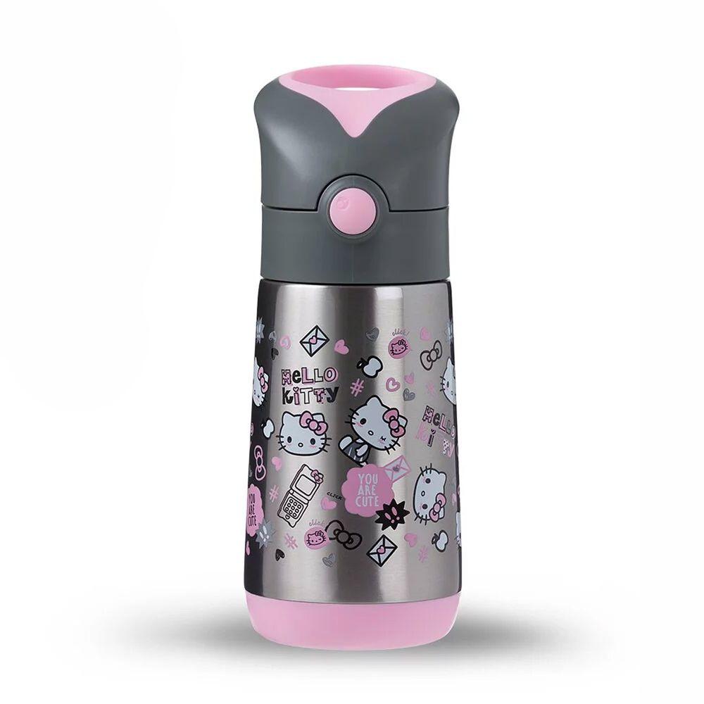 澳洲 b.box - Kitty不鏽鋼吸管保冷杯-百變Kitty-350ml
