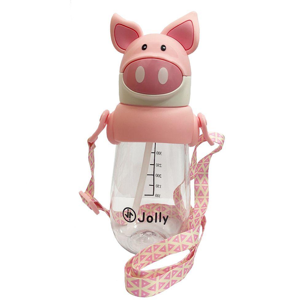 英國 JOLLY - 動物水杯-490ml-粉豬