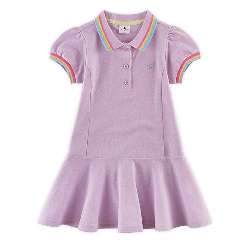 韓國 WALTON kids - 網球風魚尾洋裝-紫
