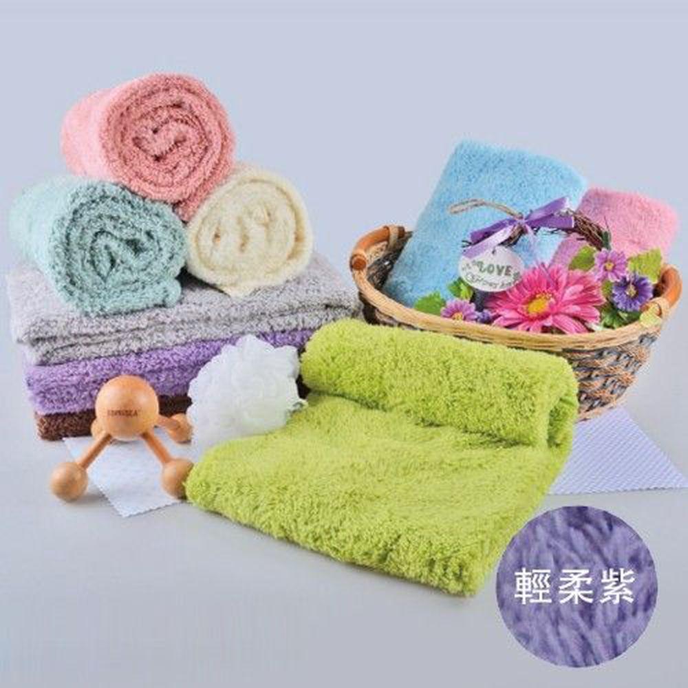 貝柔 Peilou - 超強十倍吸水超細纖維抗菌大毛巾/枕巾-輕柔紫 (50x90cm)