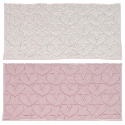 3way吸濕發熱防撥水機能毯-星心衍縫-粉X杏 (140x65cm)