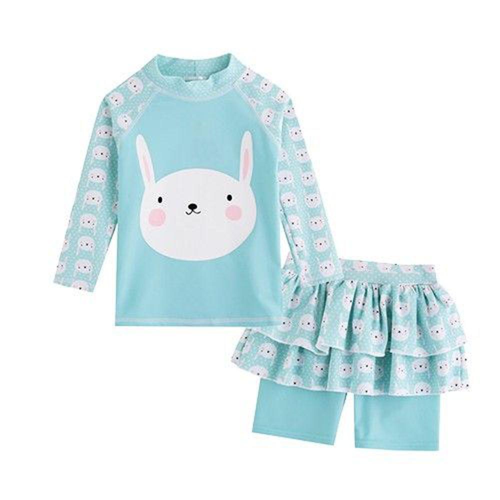 韓國 Vaenaitbaby - (抗UV)防曬泳裝-蛋糕褲裙-薄荷兔