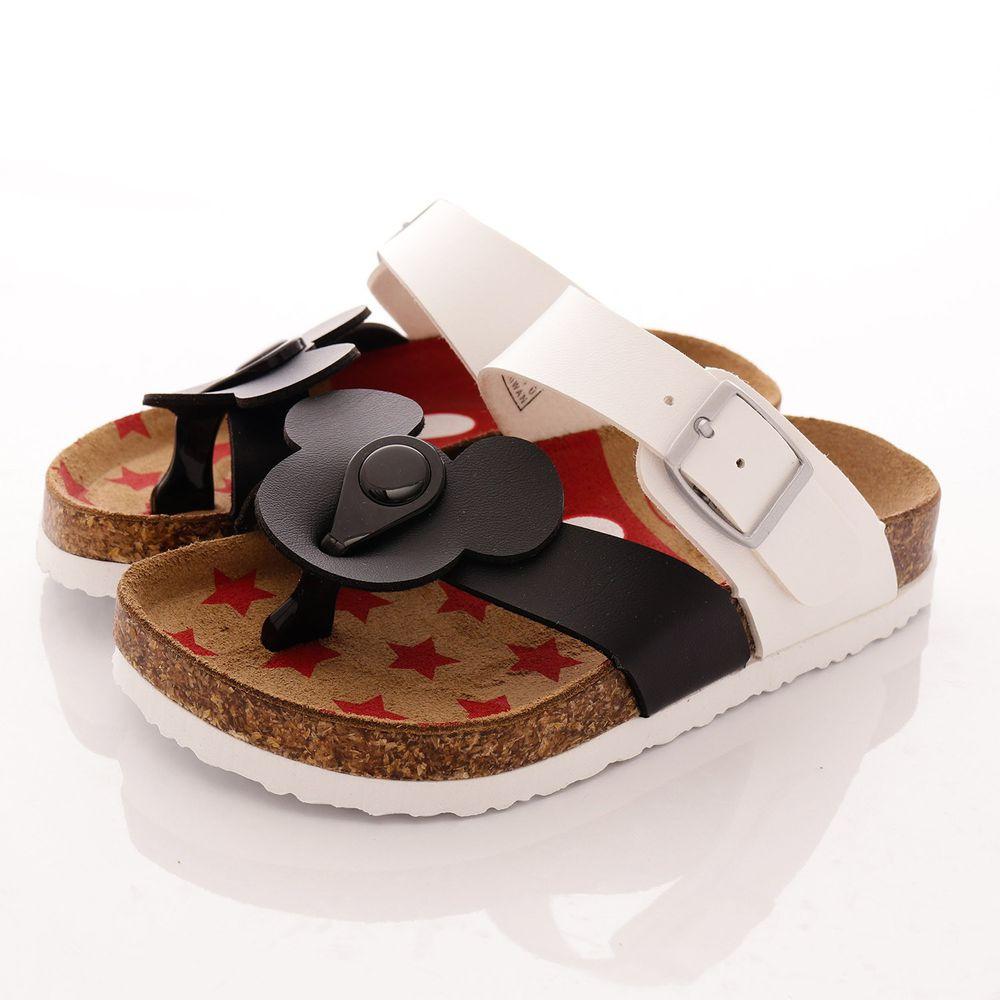 Disney - 米奇米妮木質休閒涼鞋(中小童段)-黑白