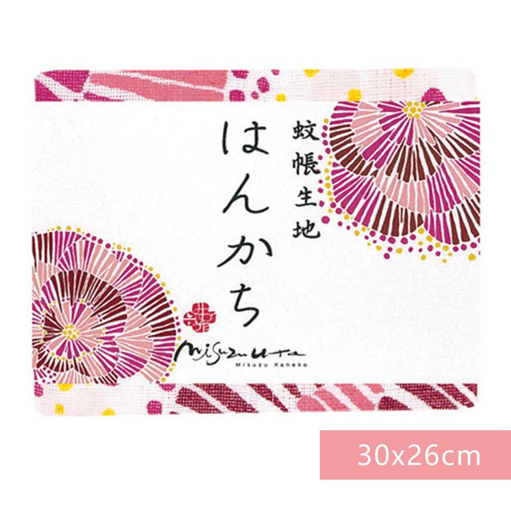 日本代購 - 【和布華】日本製奈良五重紗 手帕-花火 (30x26cm)