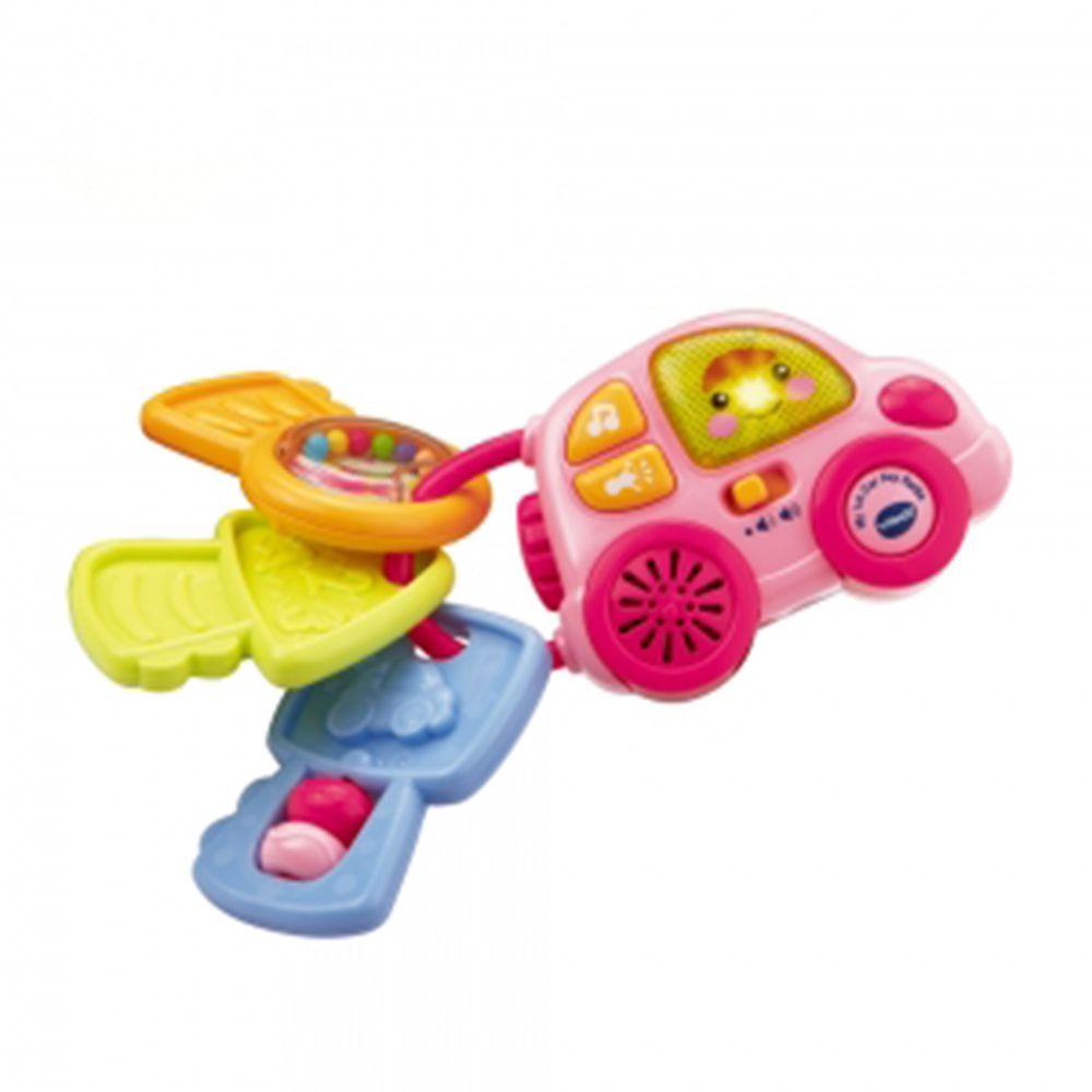 Vtech - 聲光鑰匙小車-粉色-出生起適用