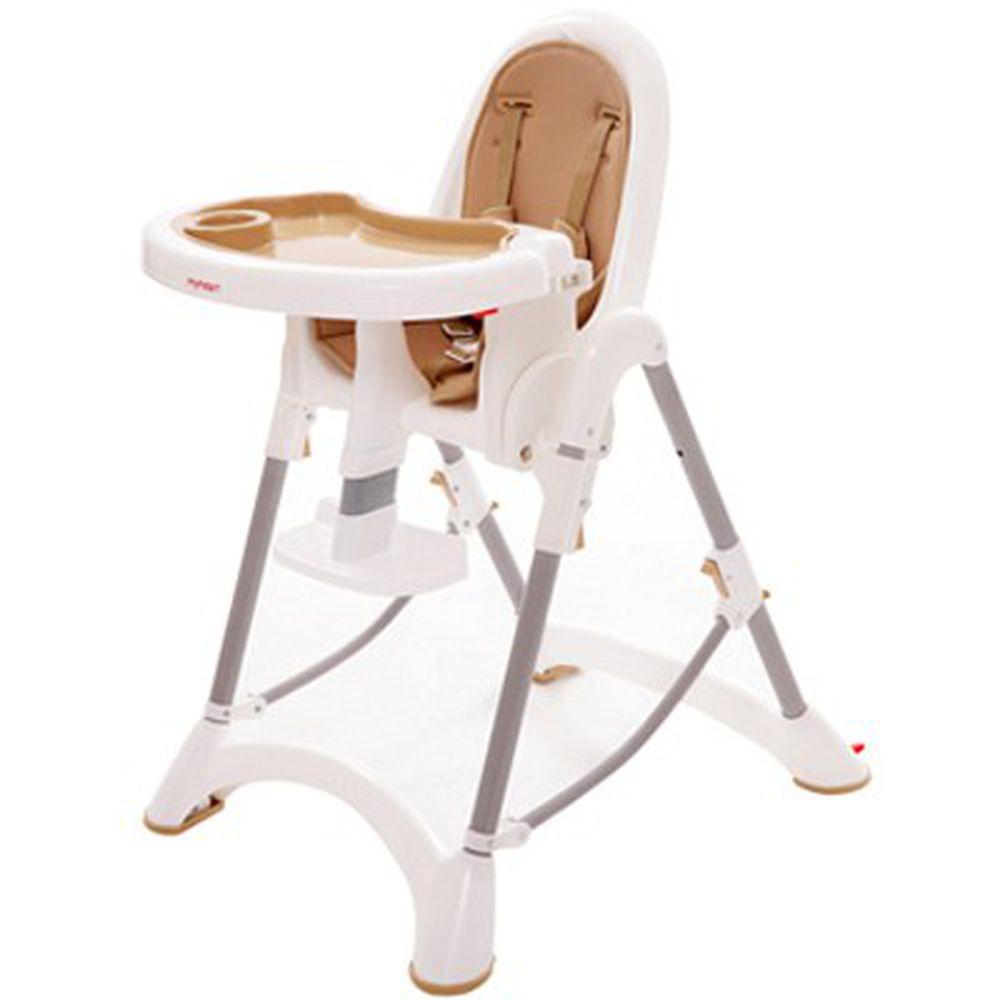 myheart - 折疊式安全兒童餐椅-布朗棕