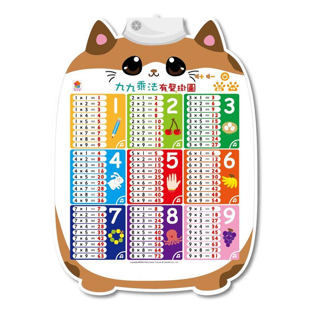九九乘法有聲掛圖-九九乘法標準語音學習+1首獨家九九乘法歌+1首經典律動性兒歌