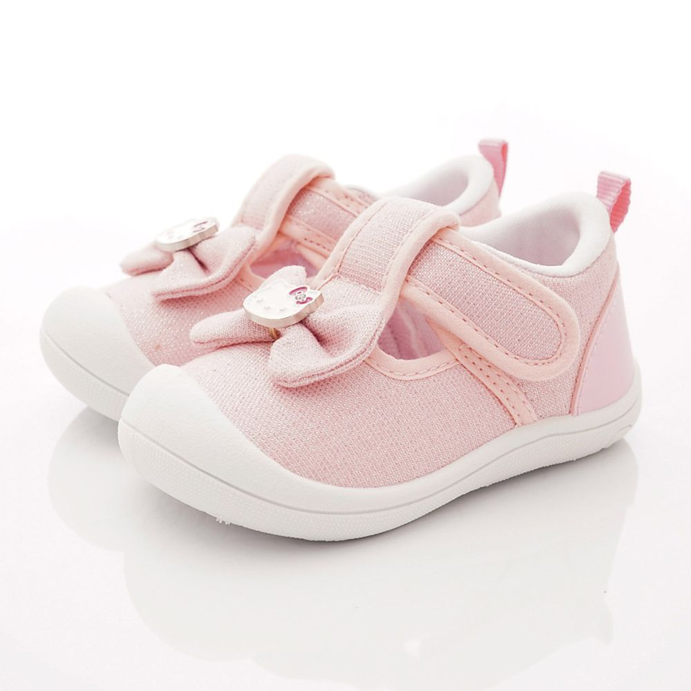 HELLO KITTY - 卡通童鞋-護趾跳色學步鞋款(寶寶段)-粉-日本尺寸cm