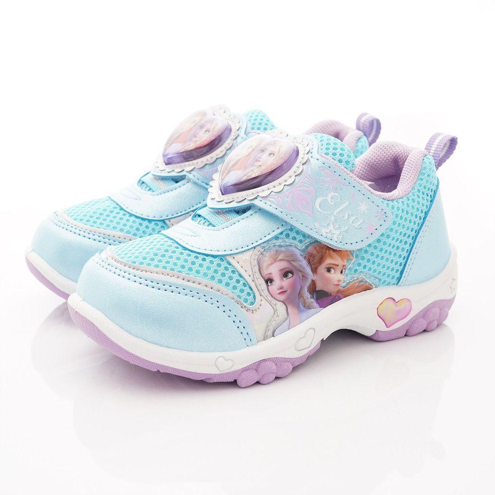 Disney - 冰雪奇緣童鞋-冰雪LED電燈運動鞋款(中小童段)-藍