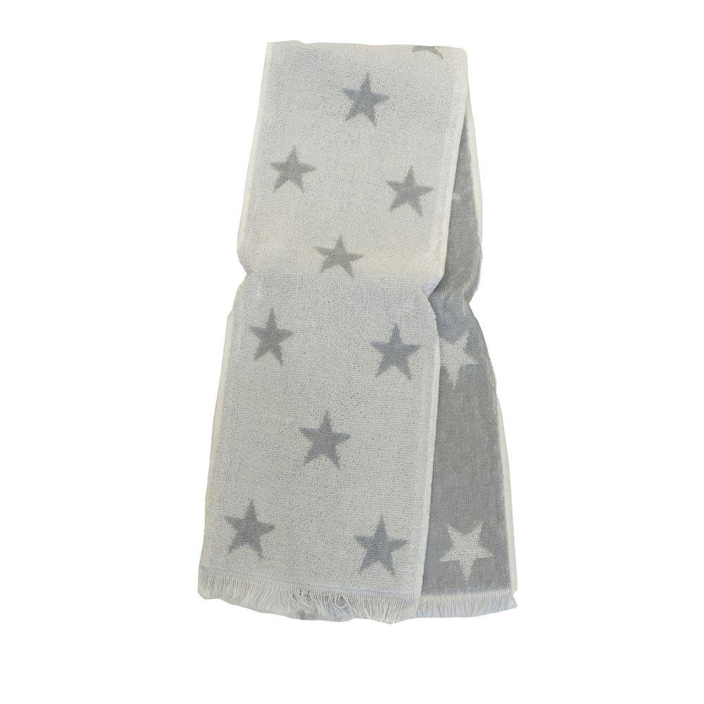 日本涼感雜貨 - 日本製 Eco de COOL 接觸冷感長毛巾-星星-灰 (90x16cm)