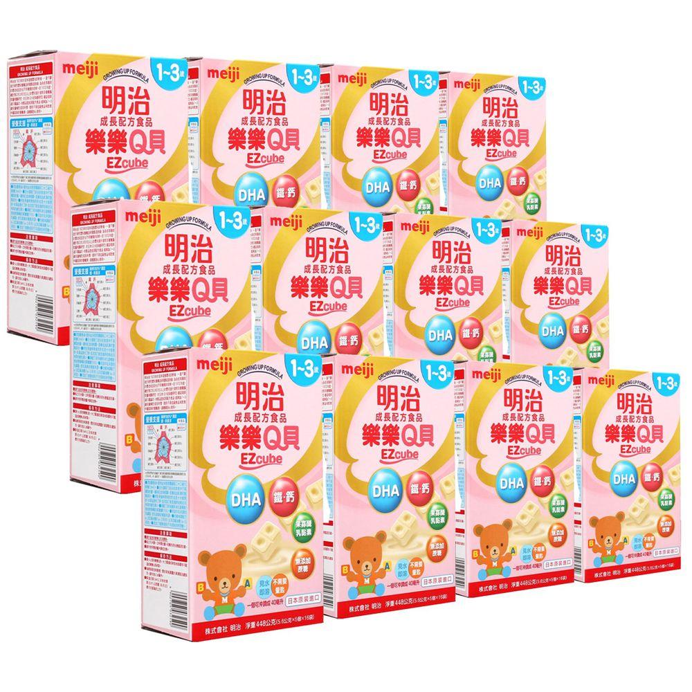 明治 - 金選成長樂樂Q貝奶粉448kg/盒x12盒