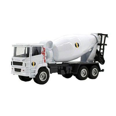 工程車-攪拌車(白)-關節可動