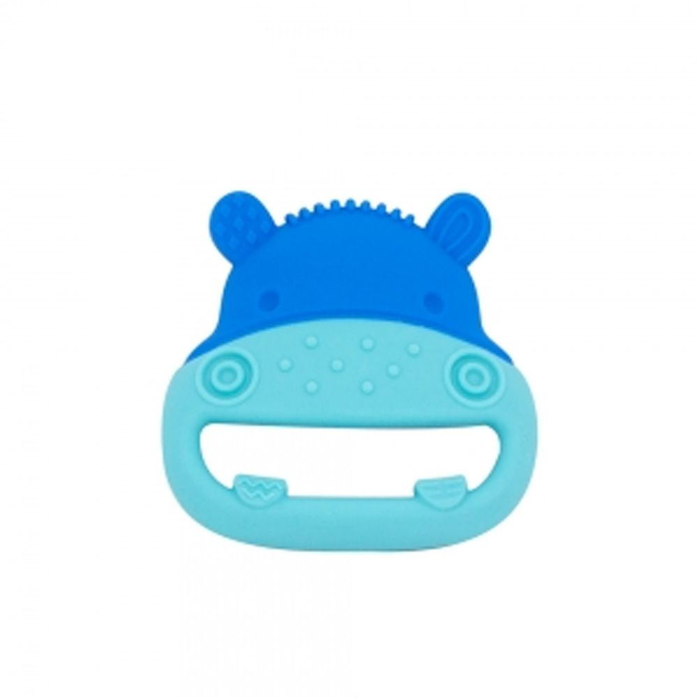 MARCUS&MARCUS - 動物樂園感官啟發固齒玩具-藍河馬