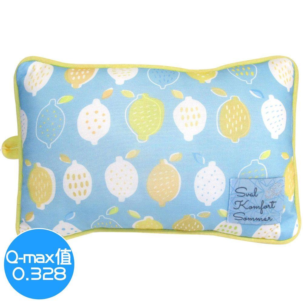 日本 DAIKAI - 接觸涼感小枕頭/午睡枕-檸檬-藍黃 (30x20cm)