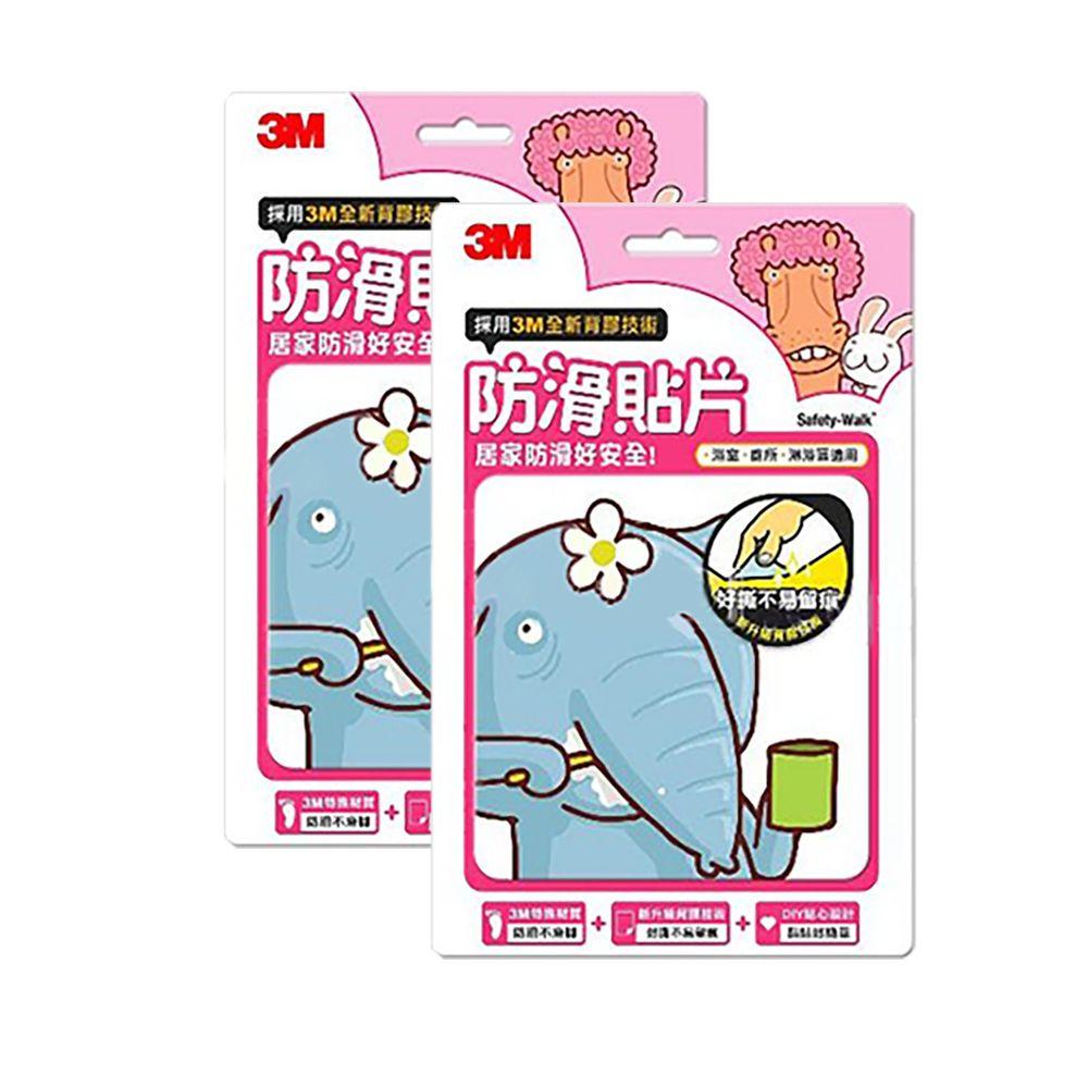 3M - 防滑貼片超值組-可愛動物 (6入x2)