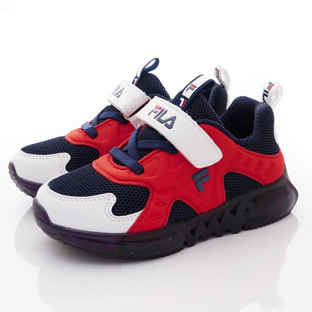 FILA - 義式電燈運動鞋款(中小童段)-藍白紅