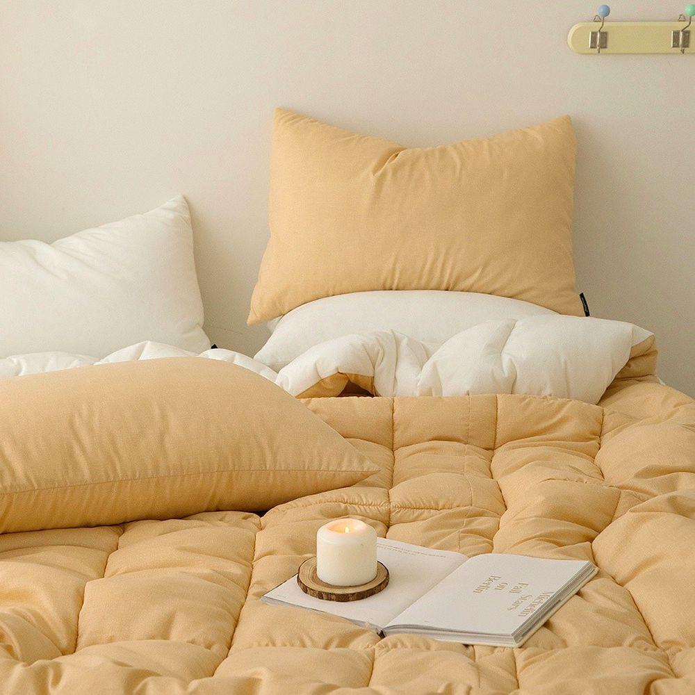 韓國製 - 可水洗超細纖維棉花糖棉被-香橙蒟蒻