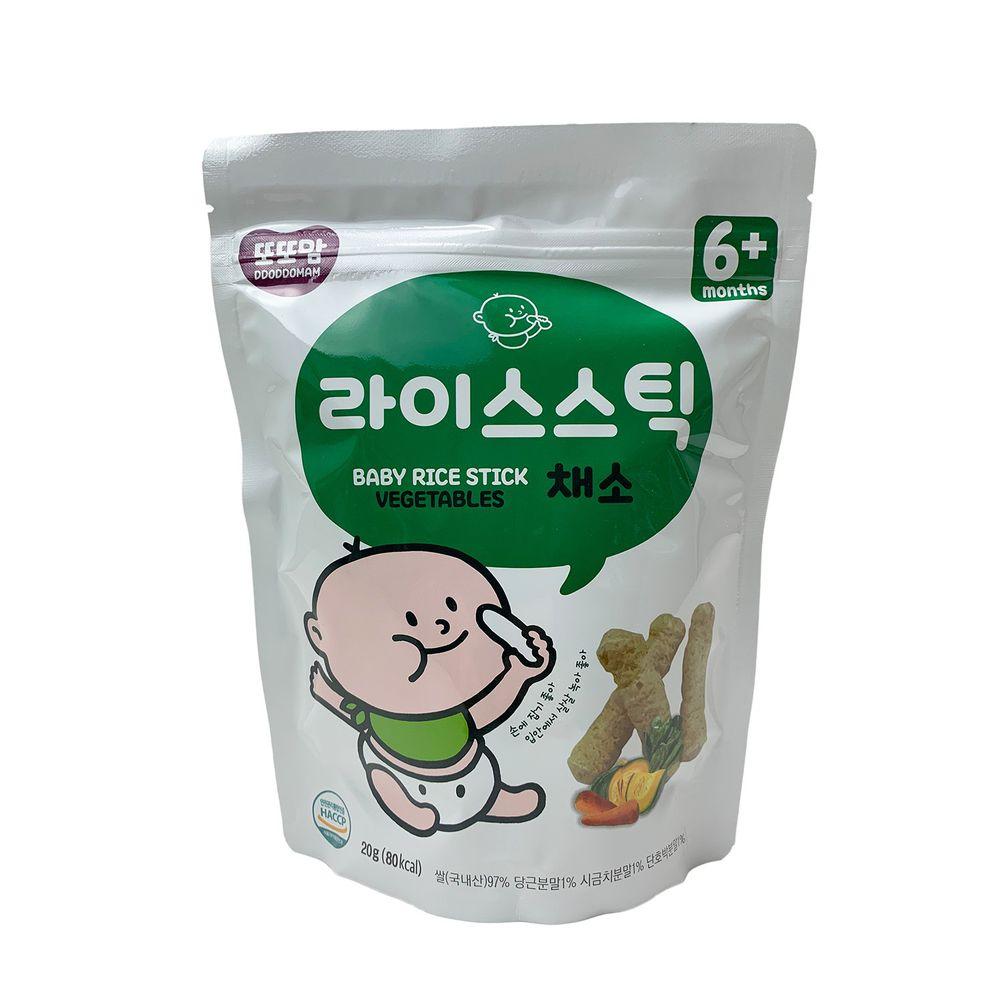 韓爸田園日記 - 手指米棒-蔬菜口味(6個月以上),有效日期 2020.10.10-1包/20公克